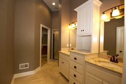 Master Bathroom Vanity, Closet, and Shower