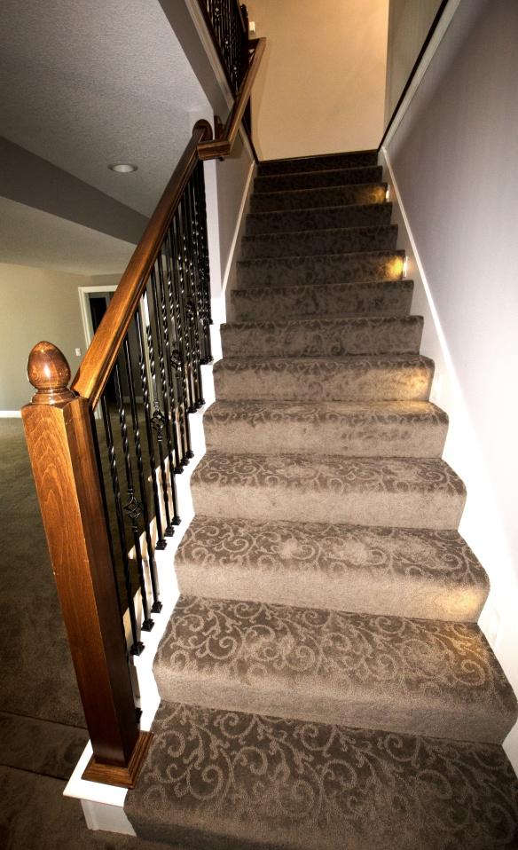 Lighted Stairs to Basement